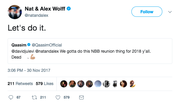 nat and alex nbb tweet