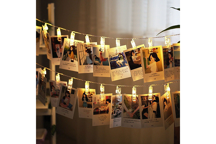 what do i want for christmas? string light photo hangers