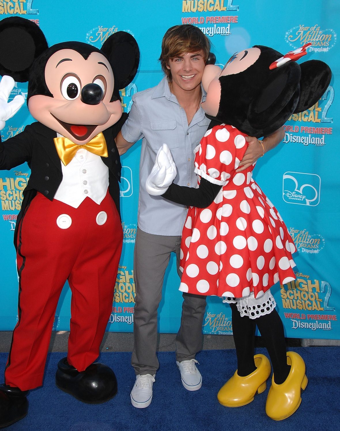 zac efron mickey and minnie mouse