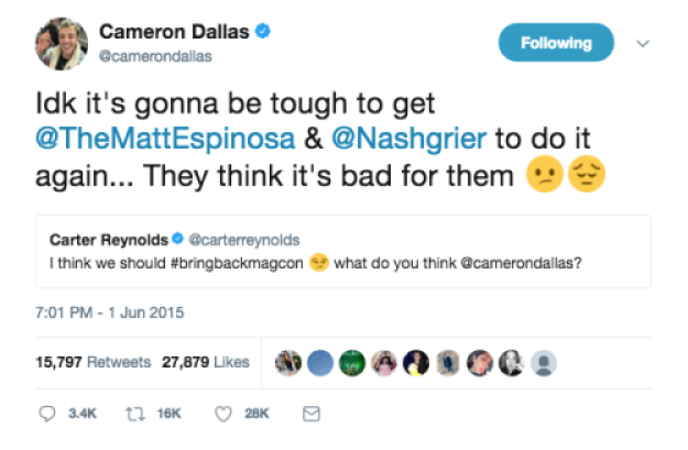 cameron dallas magcon tweet