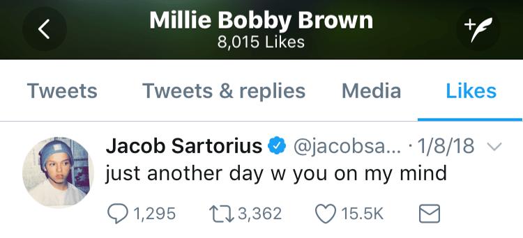 millie jacob sartorius tweet