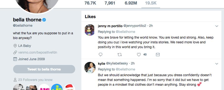 bella fan tweets