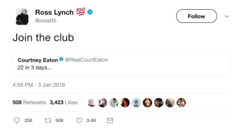 Courtney and ross lynch Ross Lynch
