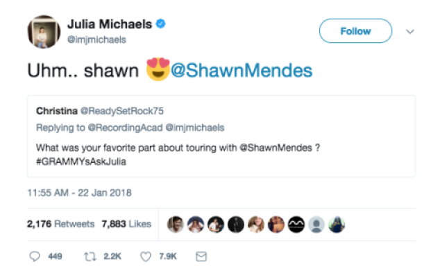 julia shawn tweet