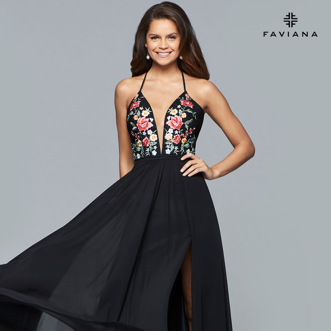 Favianna prom dress embroidered bodice win it wednesday