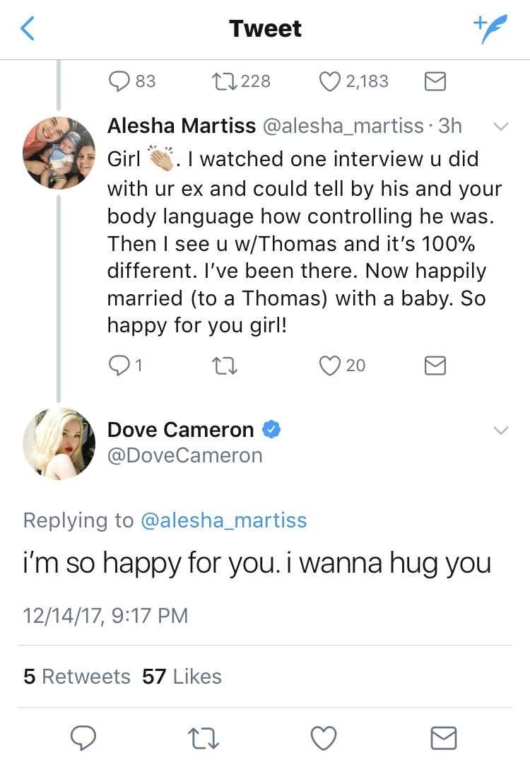 dove cameron fan tweet