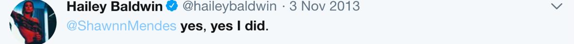 hailey and shawn tweet 2013