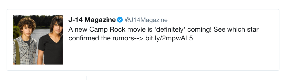camp rock 3 tweet