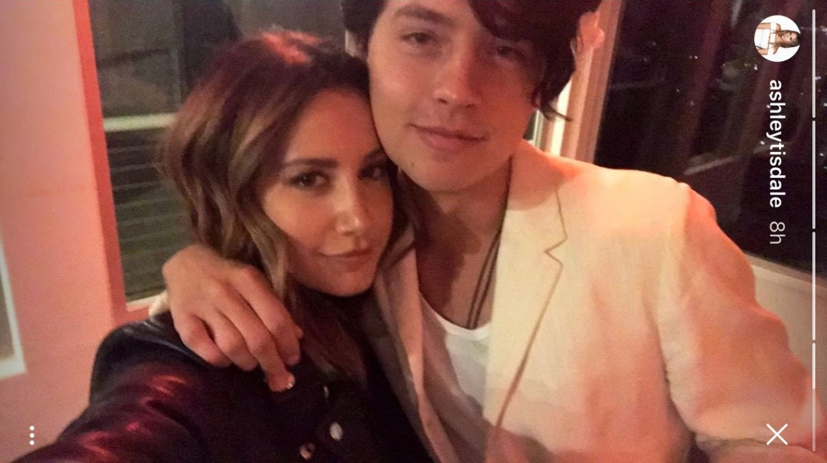 ashley tisdale and cole sprouse reunion instagram