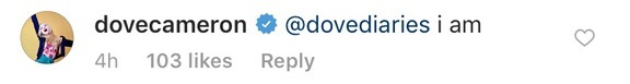 dove cameron comment 4