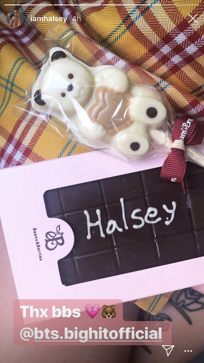 halsey bts chocolate