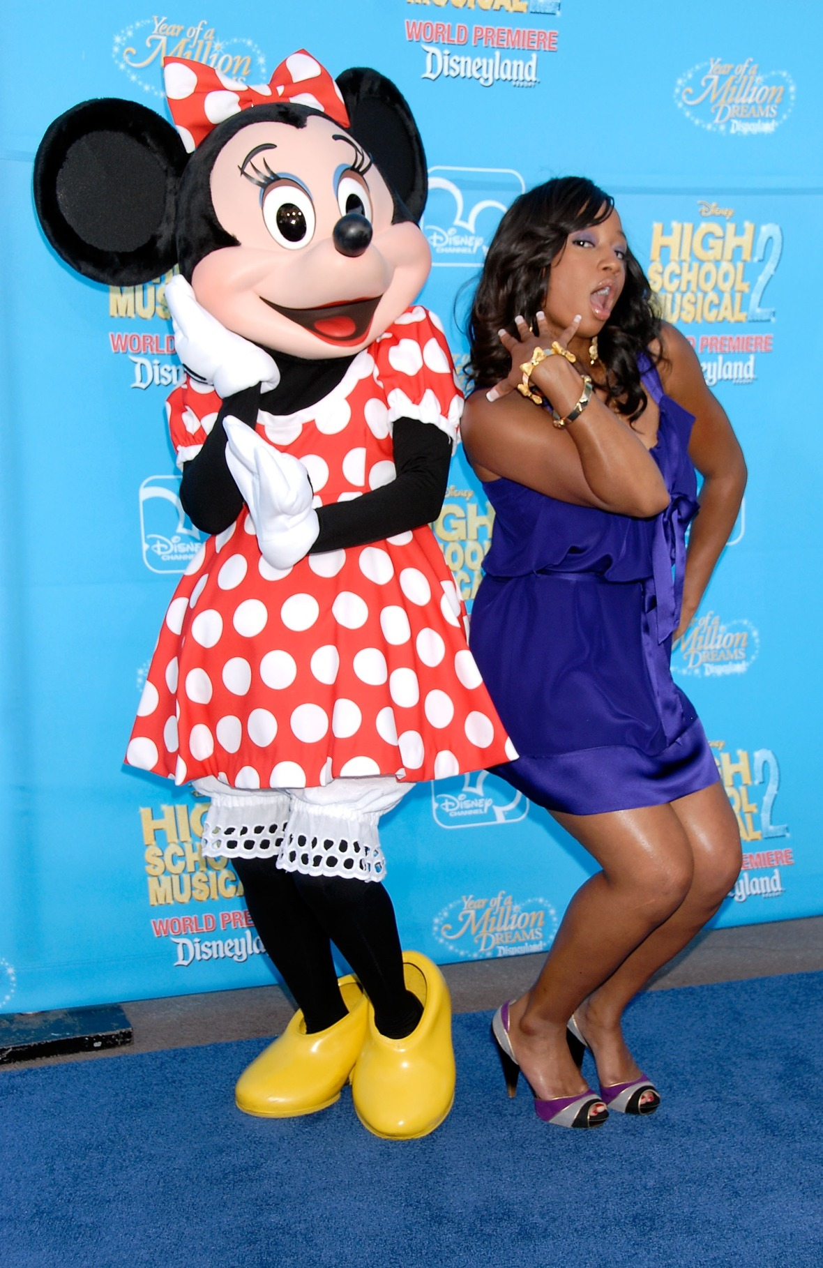 monique coleman minnie mouse hsm 2 premiere