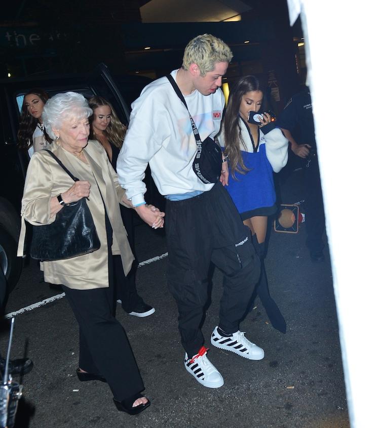pete davidson nonna holding hands