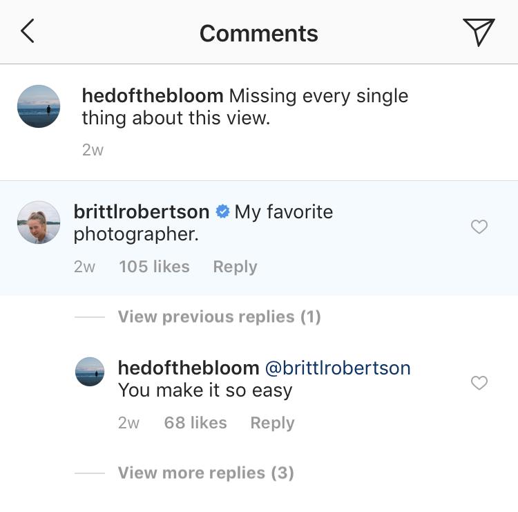 britt and boyfriend brett instagram comments