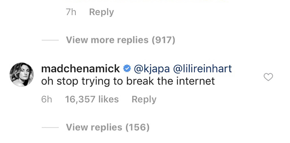 madcheck instagram comment