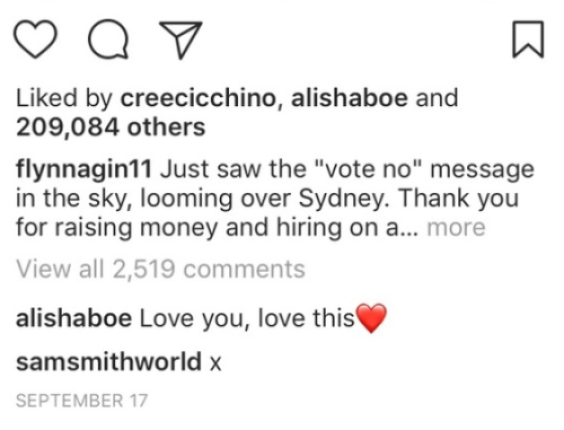 sam smith comment