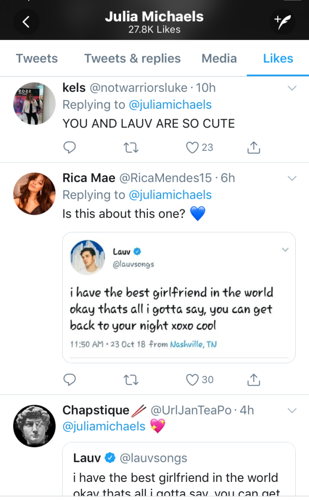 Julia Michaels Fan Tweets 2