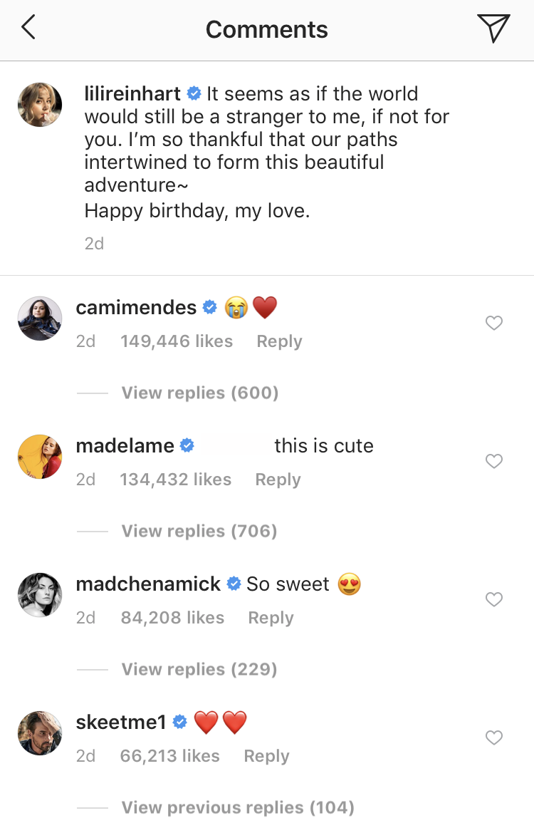 riverdale cast lili reinhart instagram comments