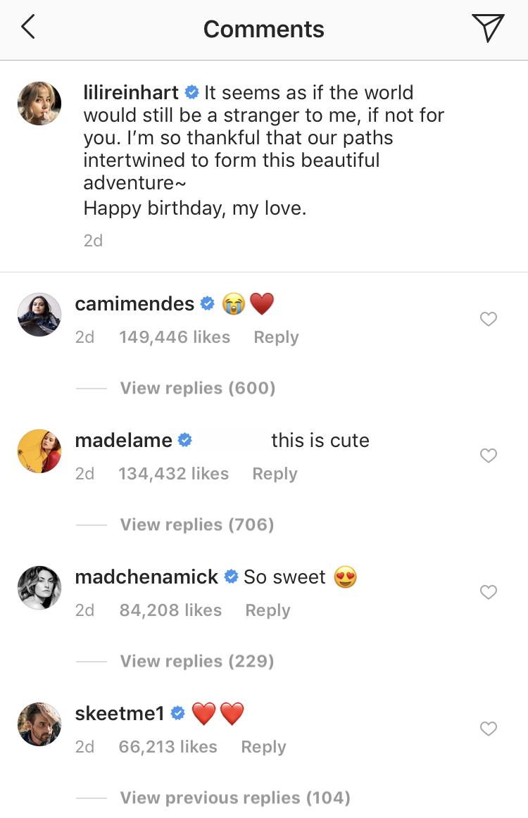 riverdale cast lili reinhart instagram comments