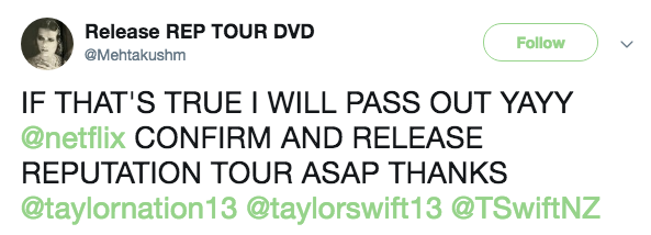 Taylor Swift Rep Tour Netflix