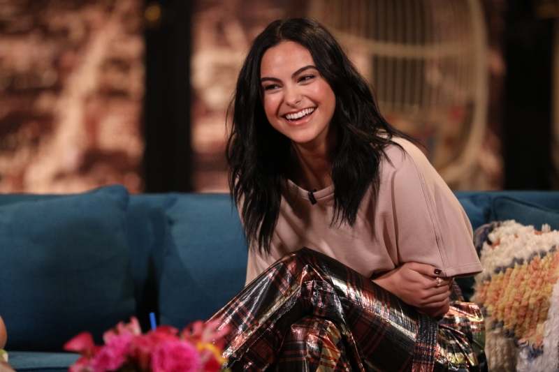 Camila Mendes uses pancake to blend her makeup