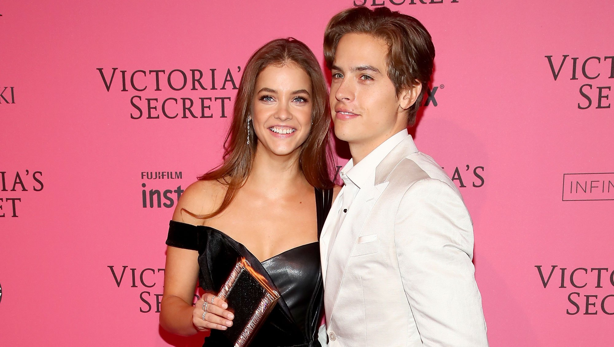 Dylan Sprouse Brings Barbara Palvin Fast Food At VS Show
