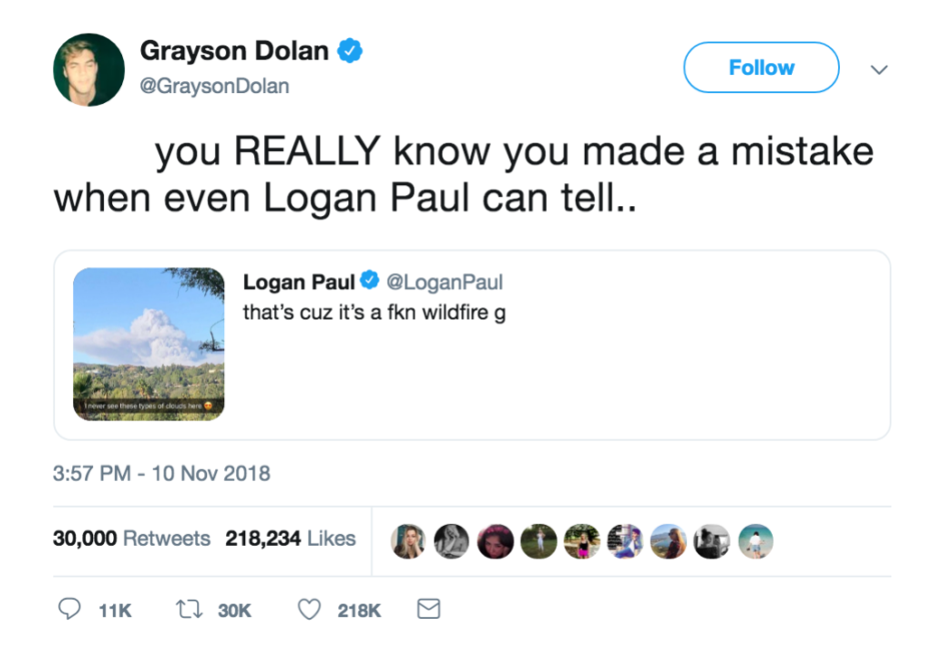 Grayson and Logan Tweet