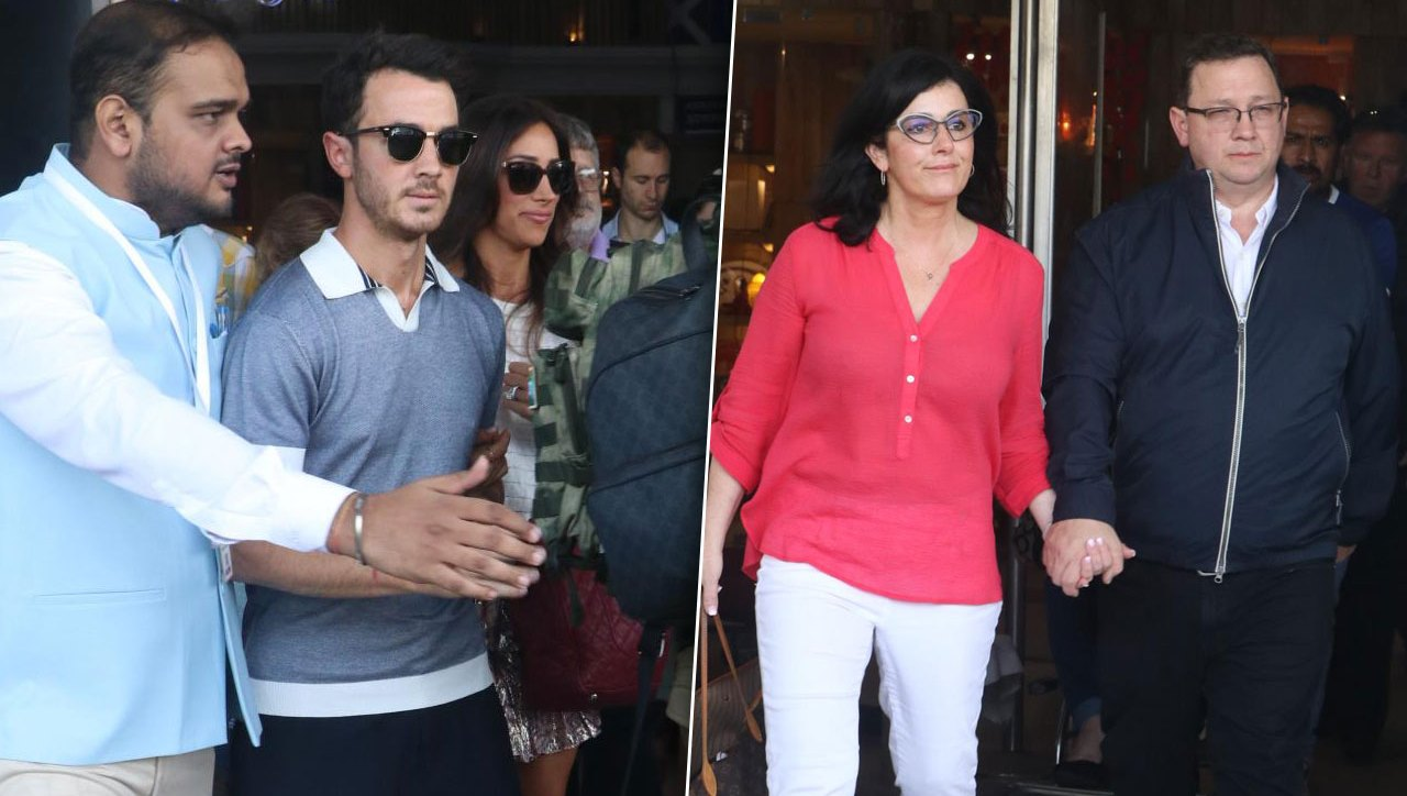 Kevin Jonas Danielle Jonas Arrive In India