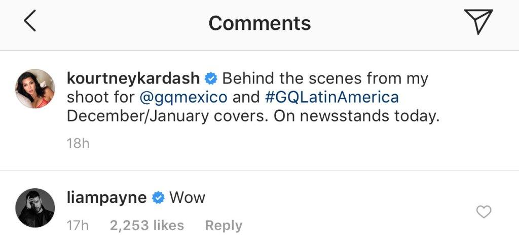 Liam Payne Kourtney Kardashian