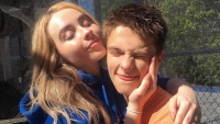 Sabrina Carpenter and Corey Fogelmanis