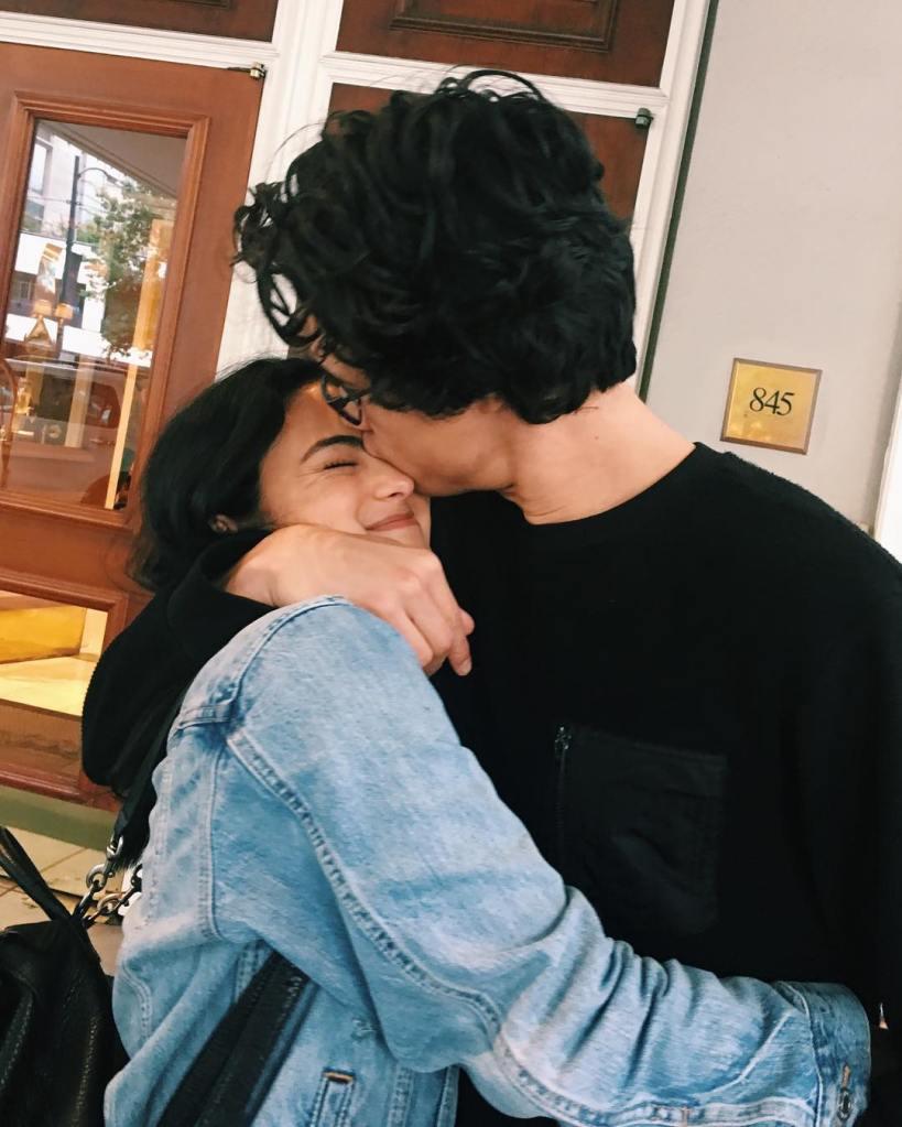 camila mendes charles melton kissing