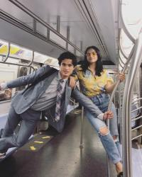 charles melton camila mendes nyc subway