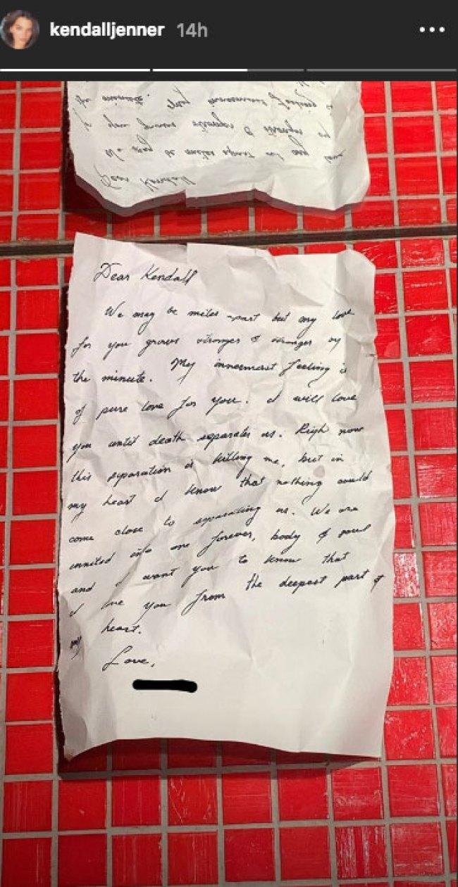 Kendall Jenner Love Letter
