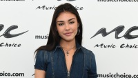 madison-beer-brown-hair-denim-jumpsui