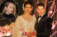 Priyanka Chopra Nick Jonas Wedding Miley Cyrus Lipstick