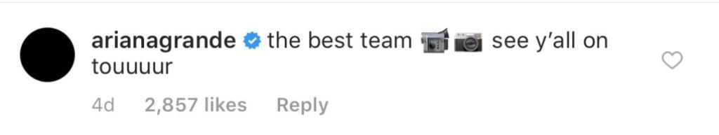 Ariana Grande's Comment Ricky Alvarez