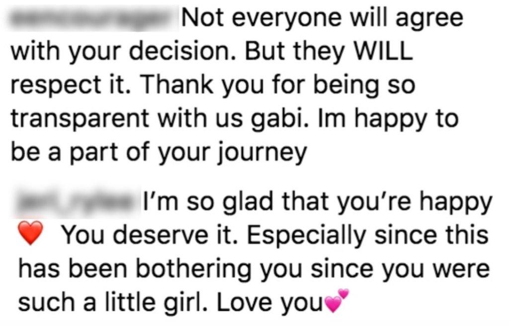 Gabi DeMartino Ariana Grande Comments
