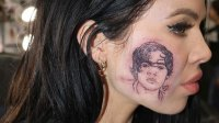 Harry Styles Face Tattoo
