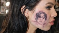 Harry Styles Face Tattoo