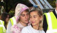 Justin Bieber hugging Hailey Baldwin