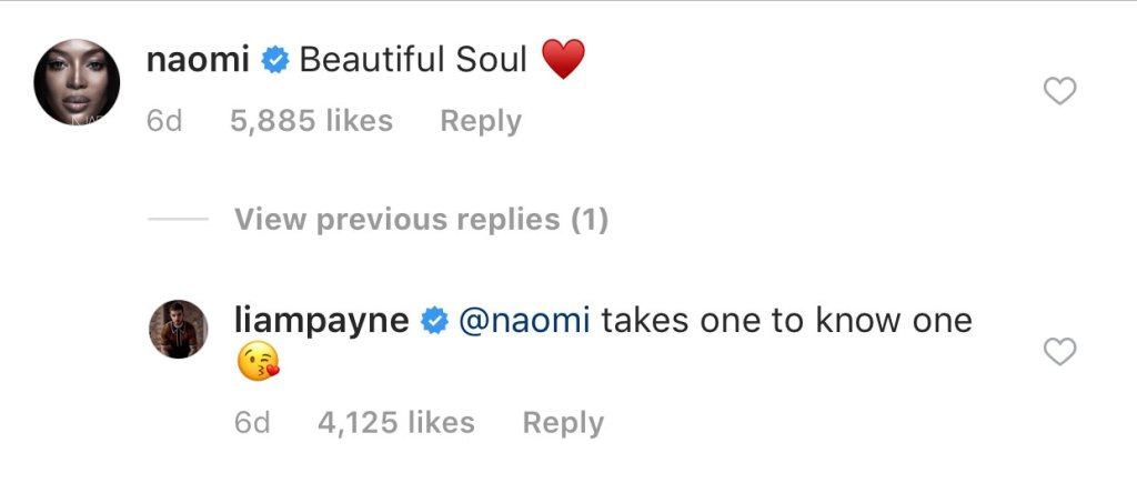 Liam Payne Flirting With Naomi Campbell
