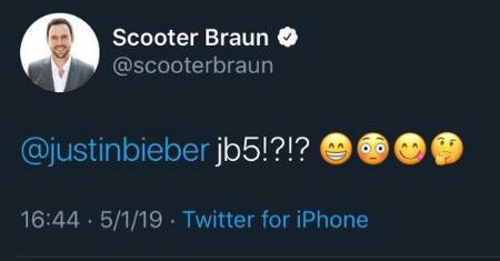 Scooter Braun Tweet