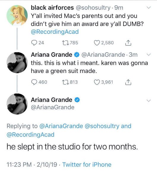 Ariana Grande Mac Miller Tweets