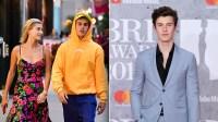 Justin Bieber, Hailey Baldwin & Shawn Mendes