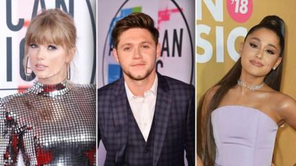 Niall Horan, Taylor Swift & Ariana Grande