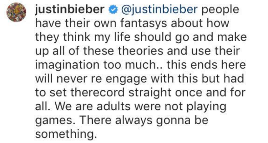 Justin Comment