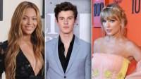 Beyoncé, Shawn Mendes, Taylor Swift