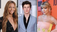 Beyoncé, Shawn Mendes, Taylor Swift