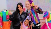 Jojo Siwa, North West & Kim Kardashian