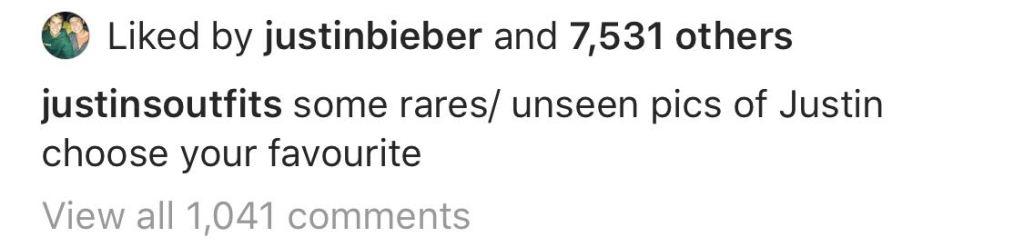 Justin Bieber Liked Instagram Selena Gomez